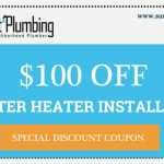 Save $100 off a water heater installation by Suncoast Plumbing, LLC in and around Summerville.