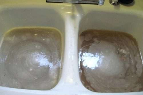 Clogged drain in kitchen sink in Summerville.